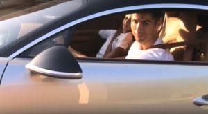 Ronaldo w swoim Bugatti Chiron